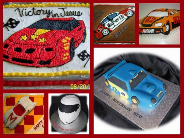 race car cakes collection
