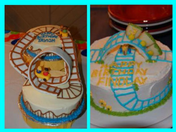 roller coaster cakes