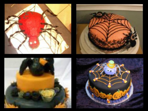 spider cakes for Halloween