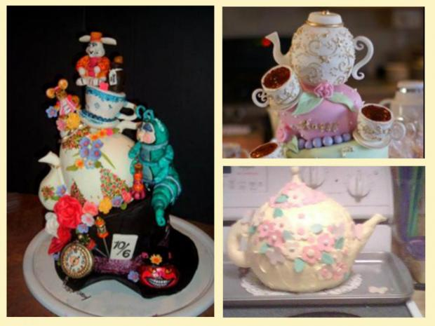 collection of teapot cakes
