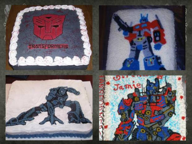 gallery of transformers cakes