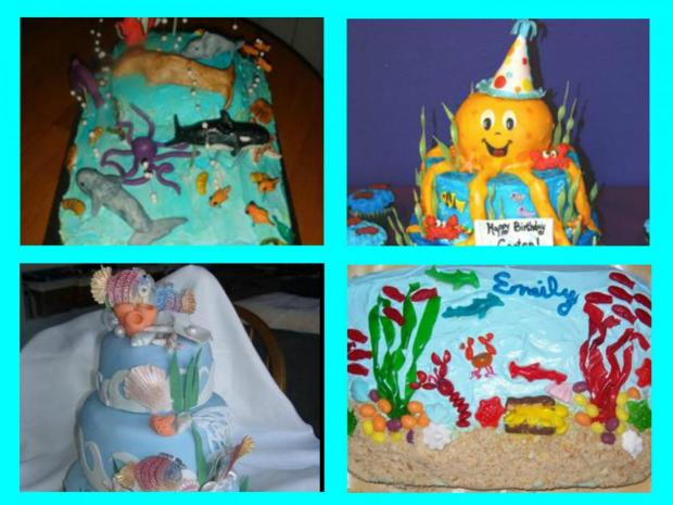 collection of under the sea cakes
