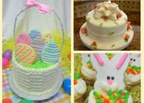 collection of Easter cakes