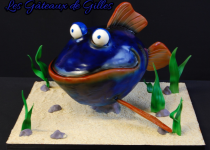 sculpted fish cake tutorial