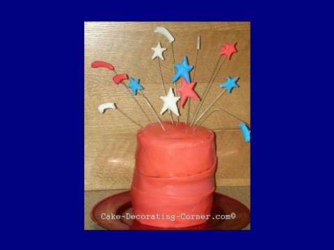 4th of July Cake - firecracker