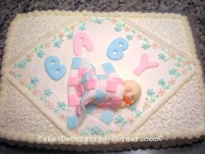 completed baby shower cakes designs