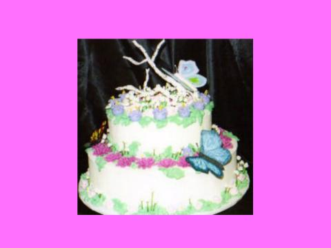 butterflies in spring cake