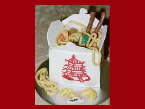 chinese food to go cake
