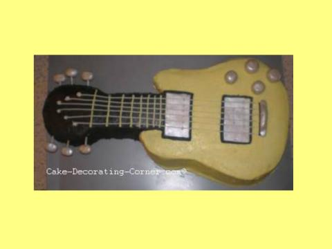 buttercream electric guitar cake