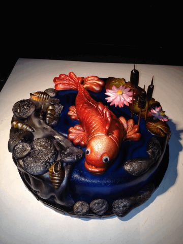 fish pond cake by Jorg Amsler