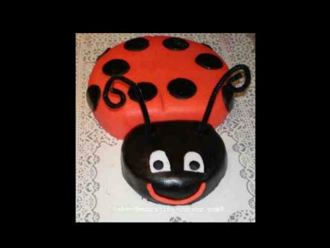 easy-to-make ladybug cake