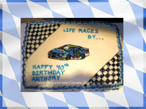 mens' birthday cake ideas - nascar cake