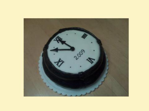 New Years Clock Cake