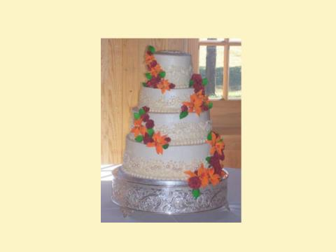 sugar lily wedding cake