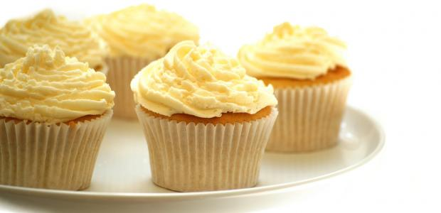 cupcakes topped with Aunt Mary's frosting