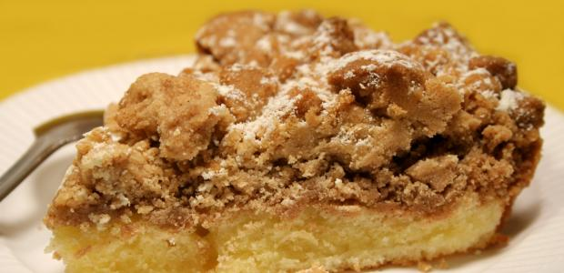 crumb coffee cake serving