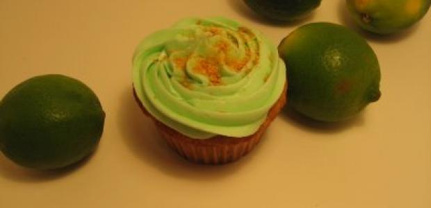 cupcakes iced with margarita icing