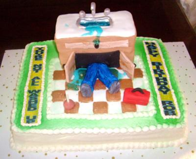 washed up plumber cake