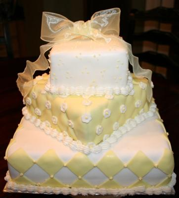 yellow bridal shower cake